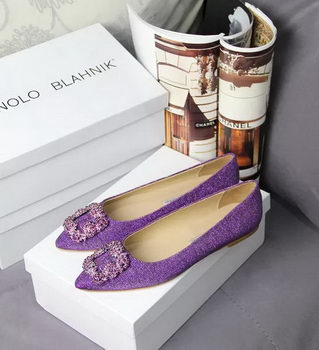 Manolo Blahnik Crystal Ballerina MB066CK Purple