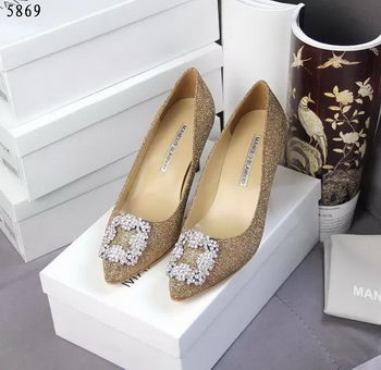 Manolo Blahnik Crystal Pump MB062CK Gold