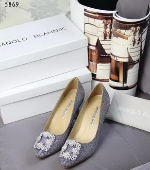 Manolo Blahnik Crystal Pump MB062CK Grey