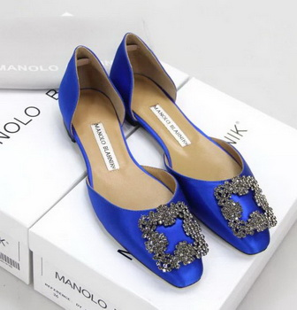 Manolo Blahnik Ballerina Satin Canvas MB099 Blue