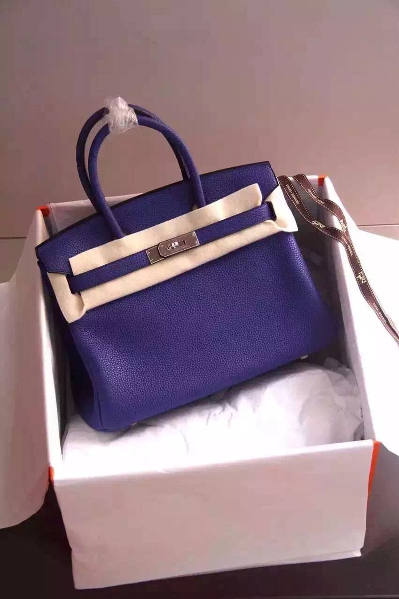 Hermes Birkin 35CM 30CM Tote Bag Grainy Leather H35H30 Blue