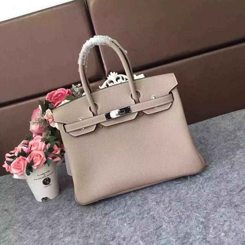 Hermes Birkin 35CM 30CM Tote Bag Grainy Leather H35H30 Grey