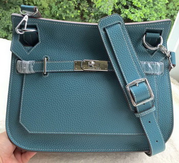 Hermes Jypsiere 31CM Shoulder Bag Calfskin Leather H0880 Blue