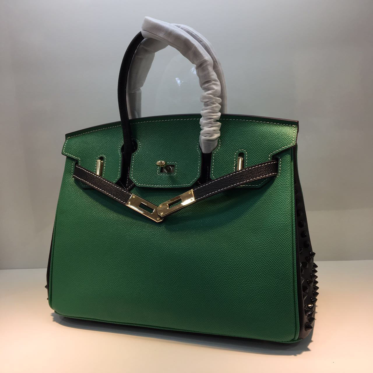 HERMES Birkin 35cm Bag Calfskin Leather 17823 Green