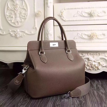 Hermes Toolbox Togo Bag Original Leather 3259 Dark Grey