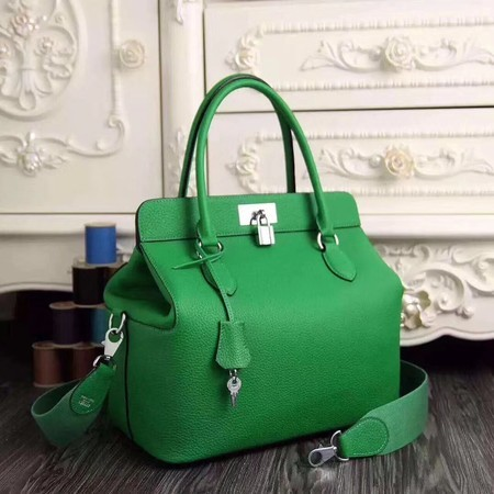 Hermes Toolbox Togo Bag Original Leather 3259 Green