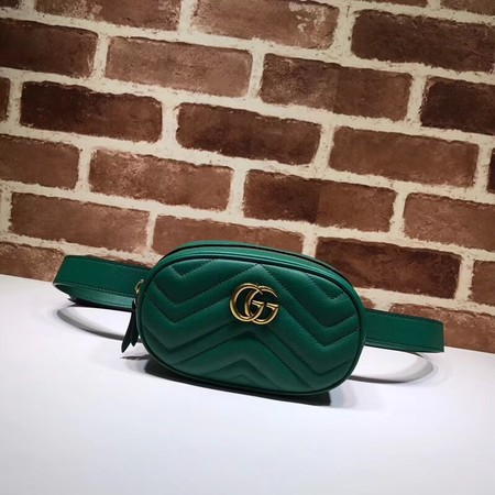 Gucci GG Marmont Leather waist pack 476434 green