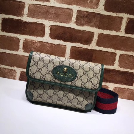 Gucci GG canvas supreme waist pack 489617 green