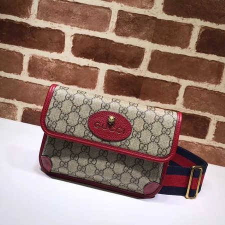 Gucci GG canvas supreme waist pack 489617 red