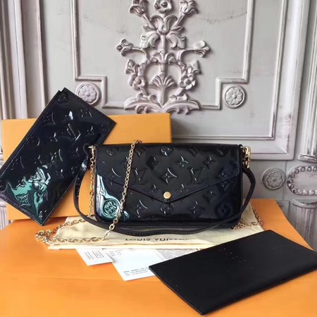 Louis Vuitton Original Monogram Vernis POCHETTE FELICIE 61276 black