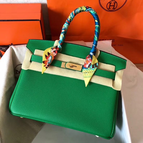 Hermes Birkin Tote Bag Original Togo Leather BK35 green