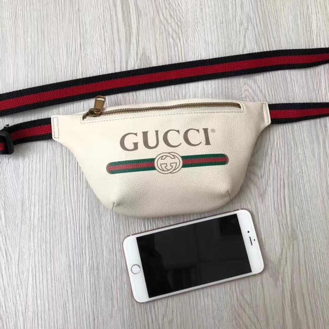 Gucci Print small belt bag 527792 white