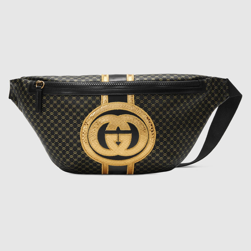 Gucci-Dapper Dan original belt bag 536416 black