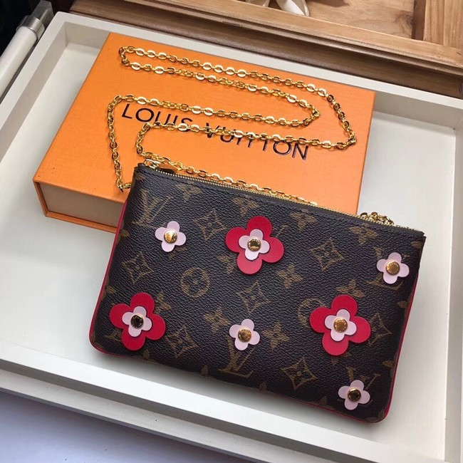 Louis Vuitton POCHETTE DOUBLE ZIP M63905 red