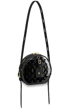 Louis vuitton original Monogam vernis BOITE CHAPEAU SOUPLE M53999 black