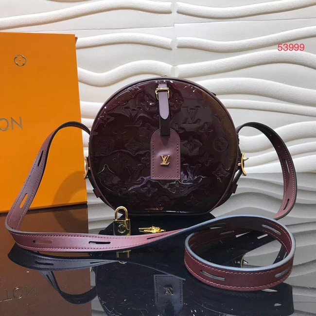 Louis vuitton original Monogam vernis BOITE CHAPEAU SOUPLE M53999 purplish