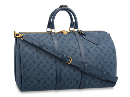 Louis vuitton original KEEPALL BANDOULIERE 50 M44644 Navy