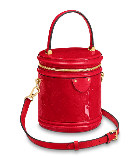 Louis vuitton original Monogam vernis CANNES tote M53997 red