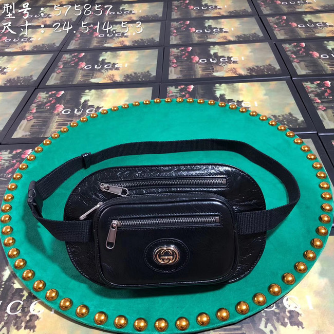 Gucci GG Original Leather belt bag 575857 black