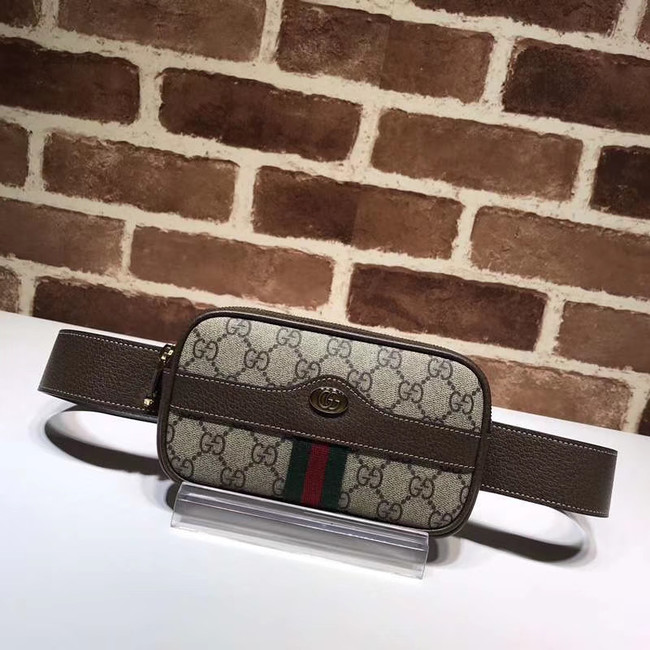 Gucci GG Original GG Leather belt bag 519308 brown
