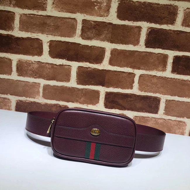 Gucci GG Original Leather belt bag 519308 Burgundy