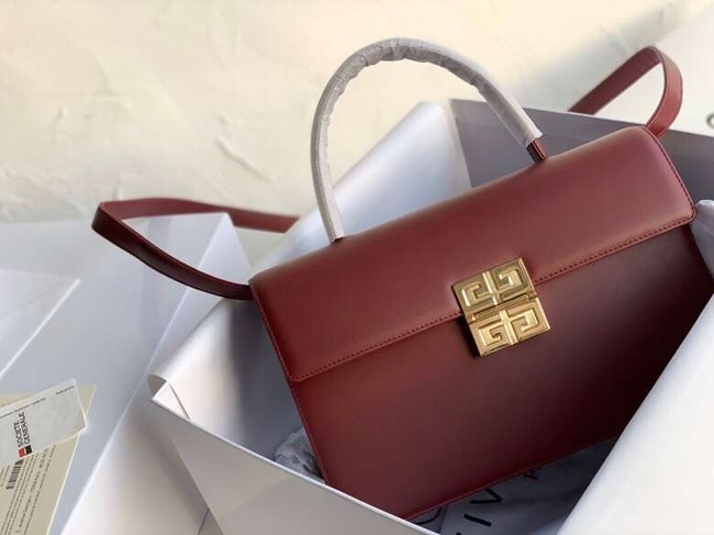 Givenchy Calfskin tote 2020 Burgundy