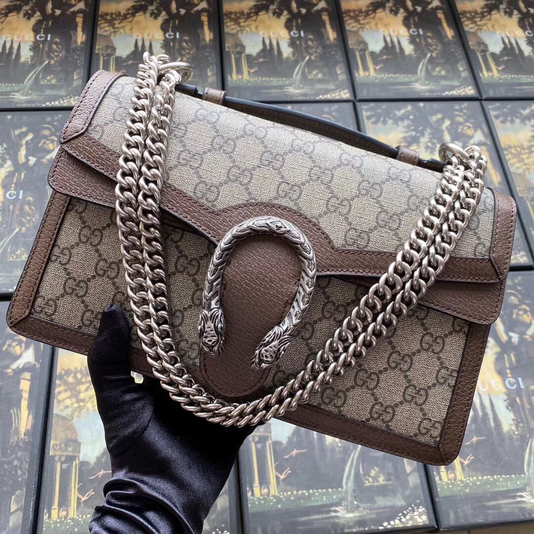 Gucci Dionysus GG top handle bag 621512 Brown