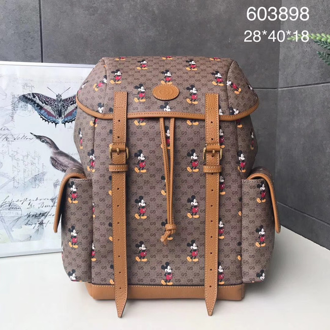 Gucci Disney x Mickey Mouse backpack 603898 brown
