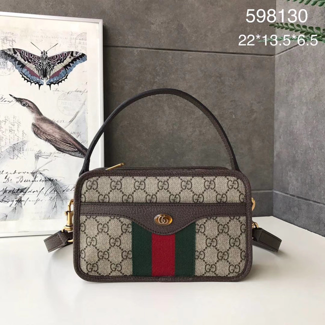 Gucci Ophidia GG Mini Shoulder Bag 598130 brown