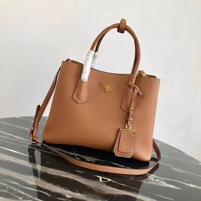 Prada Deer skin bag 1BG008 brown