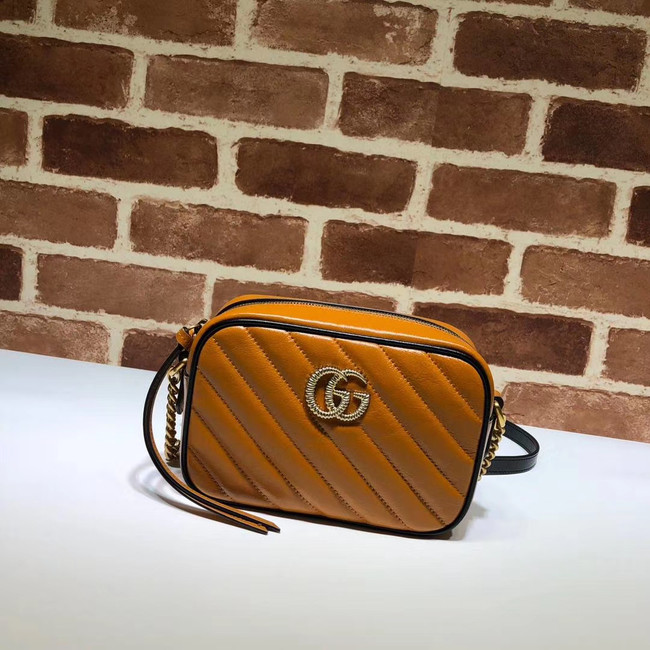Gucci GG Marmont Matelasse mini Bag 448065 brown