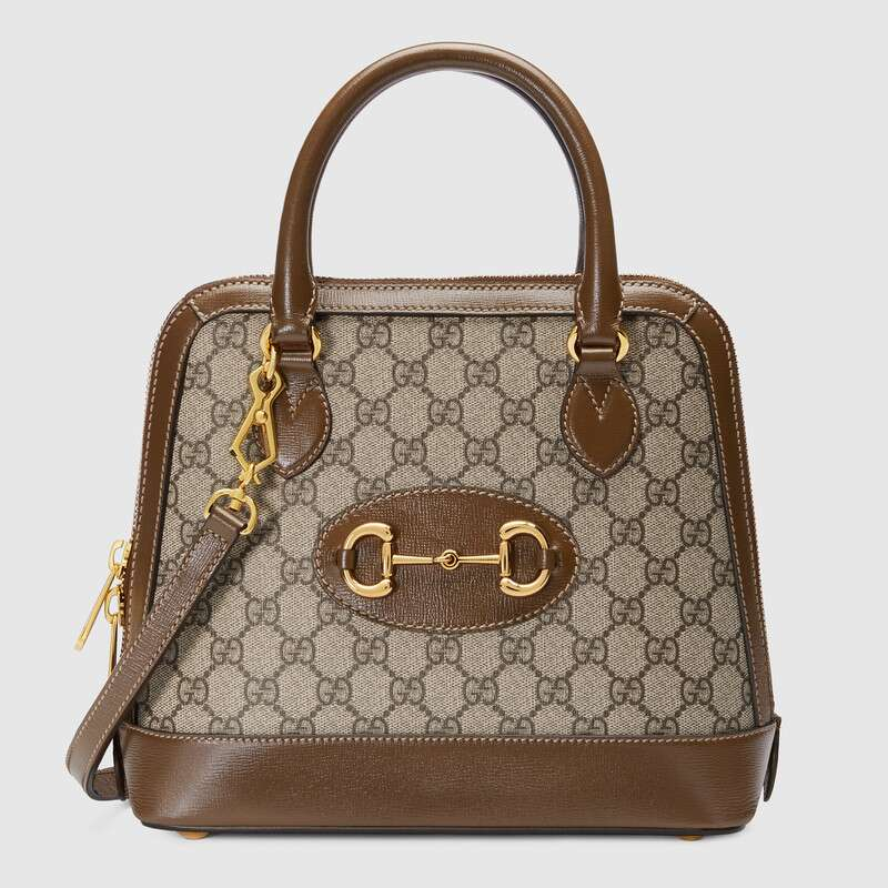 Gucci GG Supreme Canvas Top Handle Bag 621220 brown