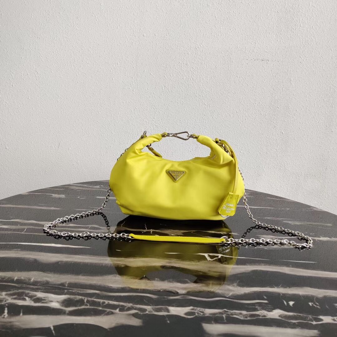 Prada Re-Edition 2005 nylon shoulder bag 1BH172 yellow