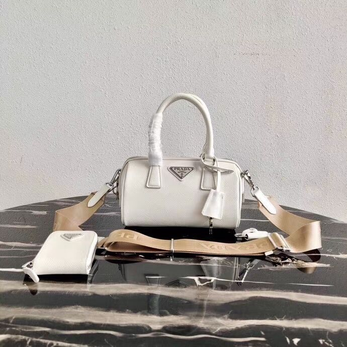 Prada Re-Edition 2005 top-handle bag 1BB846 white