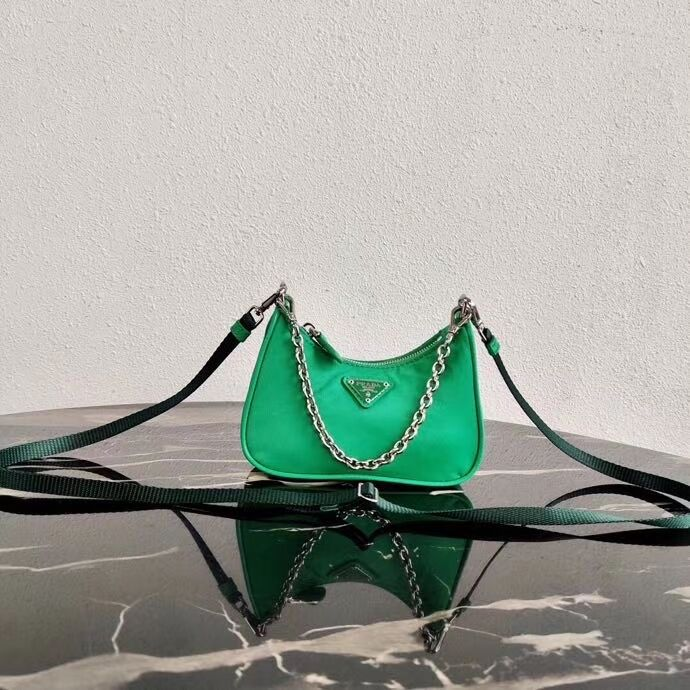 Prada Re-Edition nylon mini shoulder bag 1TT122 green