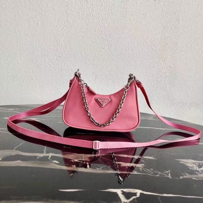 Prada Re-Edition nylon mini shoulder bag 1TT122 pink