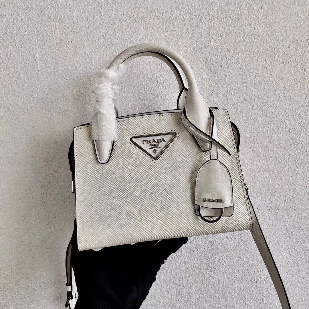 Prada Saffiano leather mini-bag 2BA269 White