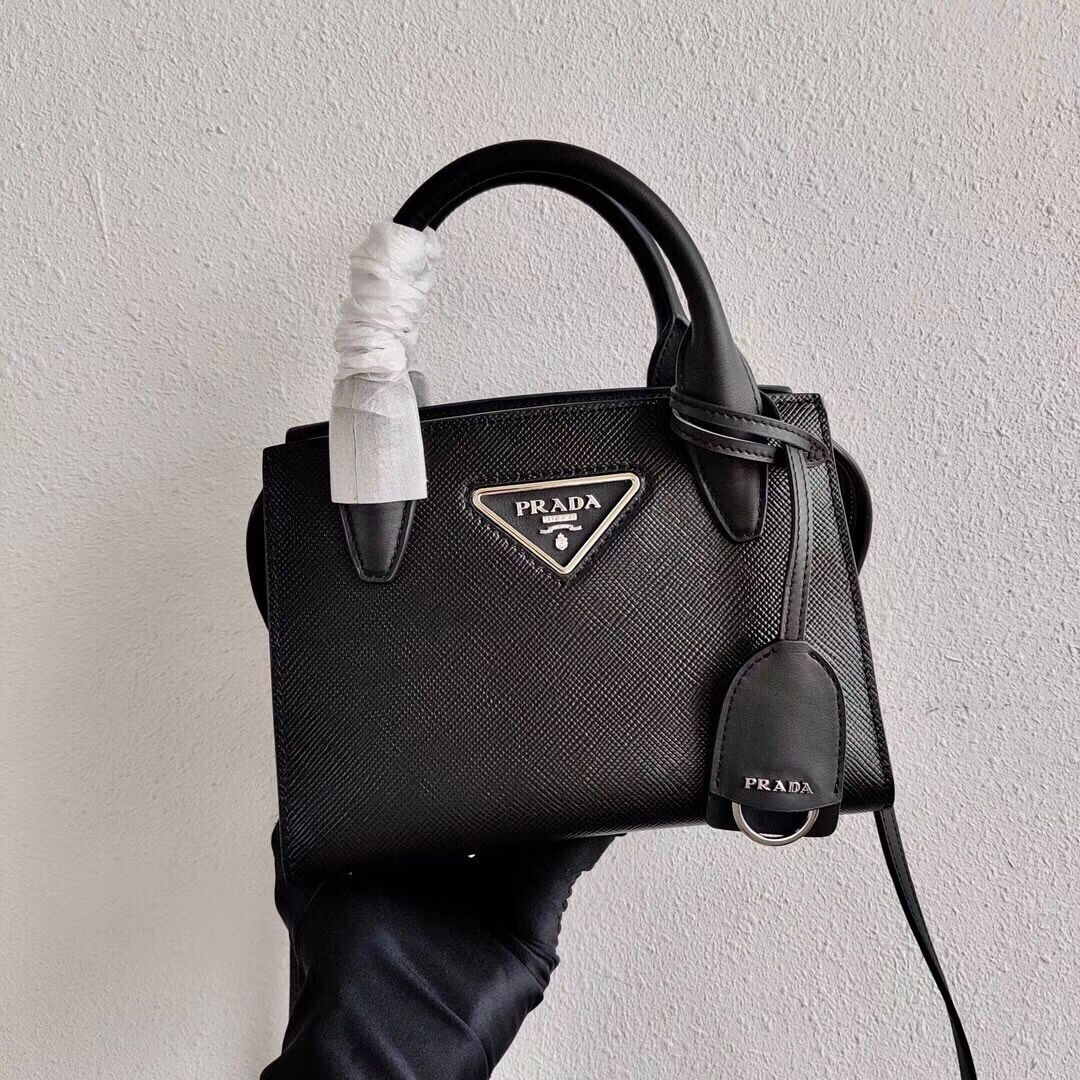 Prada Saffiano leather mini-bag 2BA269 black