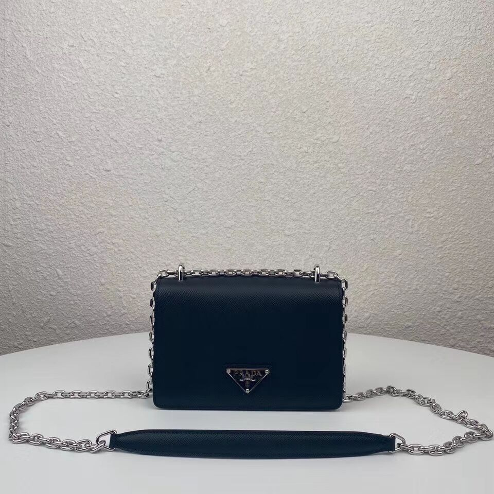 Prada Saffiano leather mini shoulder bag 2BD032 black