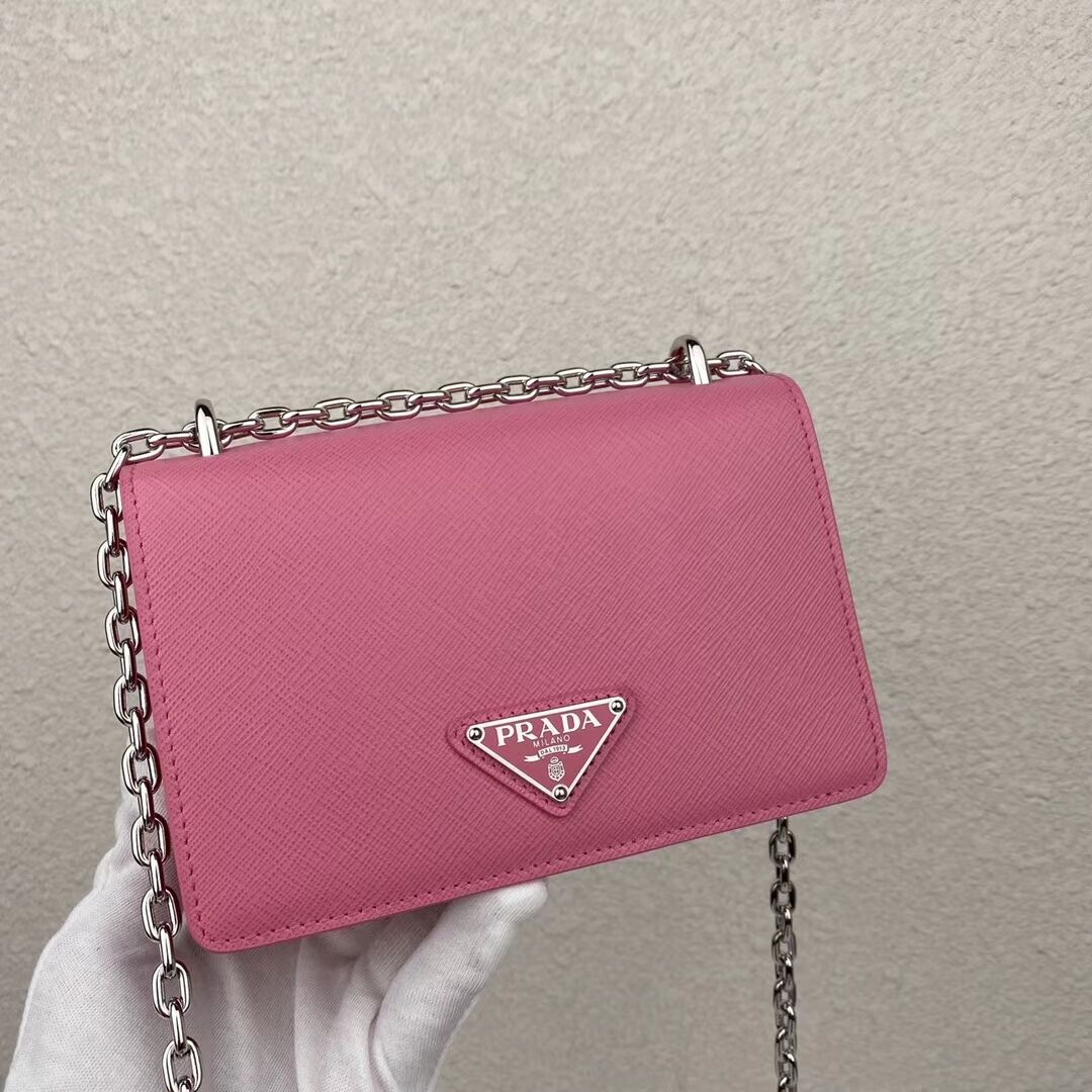 Prada Saffiano leather mini shoulder bag 2BD032 pink