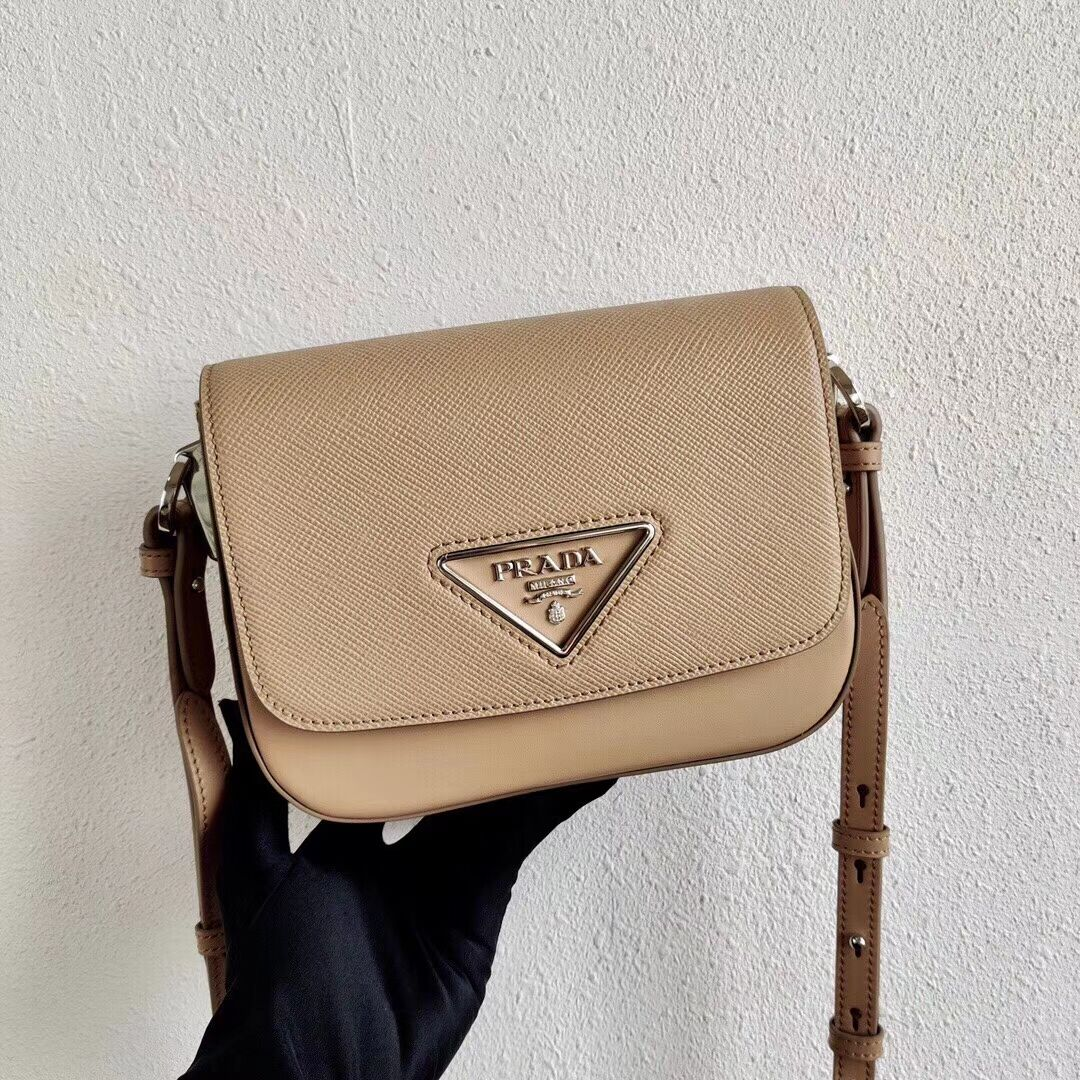 Prada Saffiano leather mini shoulder bag 2BD249 apricot