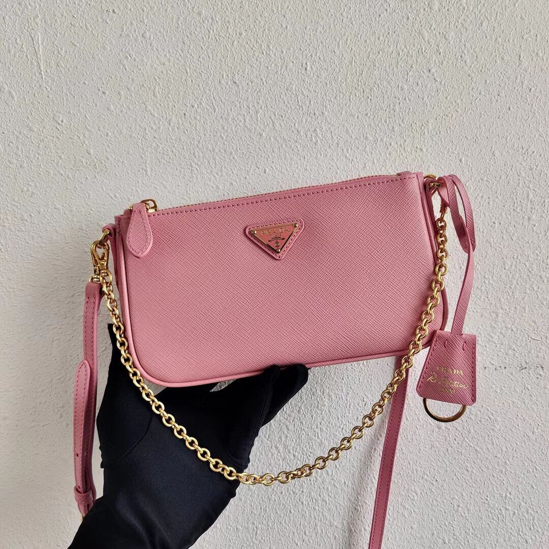 Prada Saffiano leather mini shoulder bag 2BH171 pink