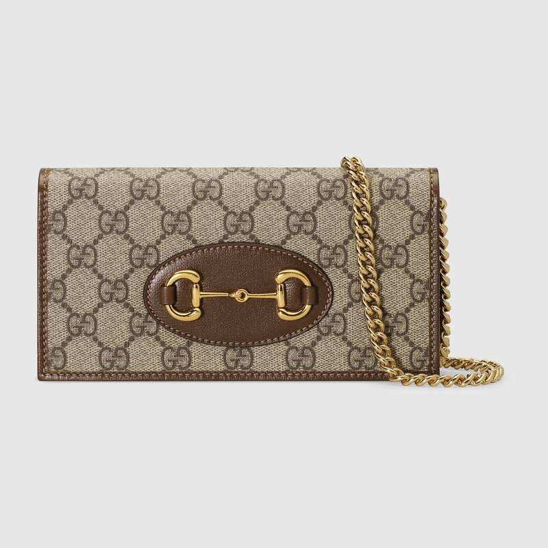 Gucci Horsebit 1955 wallet with chain 621892 brown