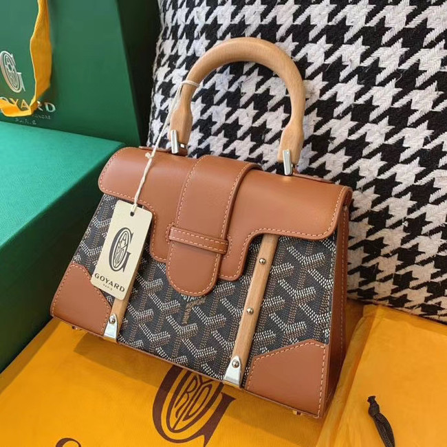 Goyard mini saigon tote bag 55632 brown