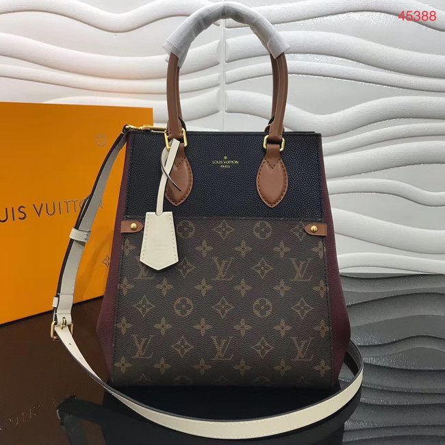 Louis Vuitton Original FOLD TOTE medium M45409 black&brown&white