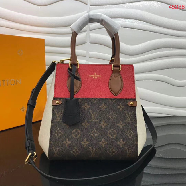 Louis Vuitton Original FOLD TOTE medium M45409 red&brown&white