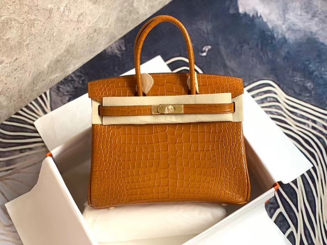 Hermes Birkin Bag Original Leather crocodile HBK35 brown