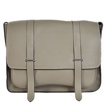 Hermes Steve 32CM Mens Bag Clemence Grey