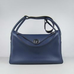 Hermes Lindy 34CM Shoulder Bag Dark Blue
