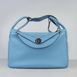 Hermes Lindy 34CM Shoulder Bag Light Blue